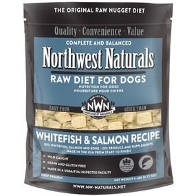 Northwest Naturals Frozen Raw Dog Food Whitefish & Salmon Recipe Nuggets 6 Lbs.