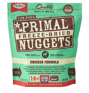Primal Chicken Recipe Freeze Dried Dog Food 14 oz