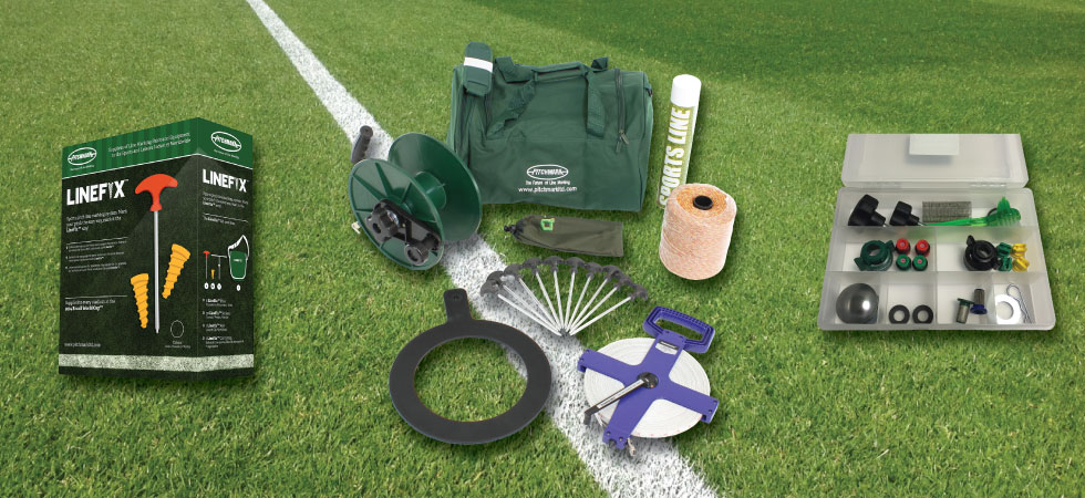 Equipment for sports pitch line marking and accessories for spray line markers.