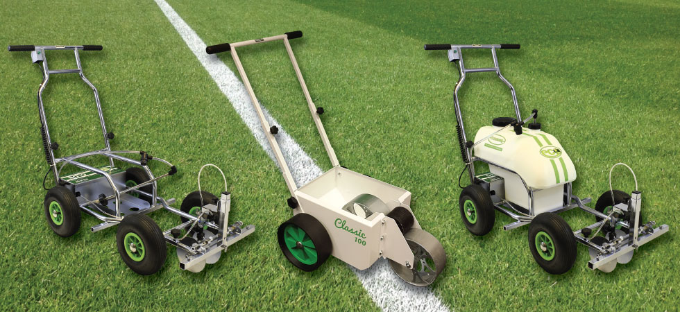 Spray and transfer wheel-to-wheel line marker machines.