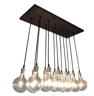 12 pendant Industrial Chic chandelier