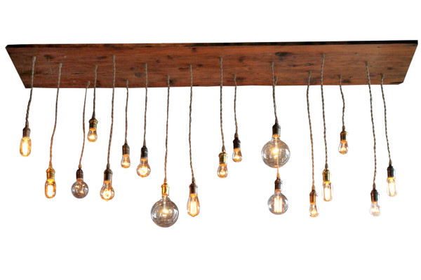 Reclaimed Wood 18 Pendant Rustic Chandelier