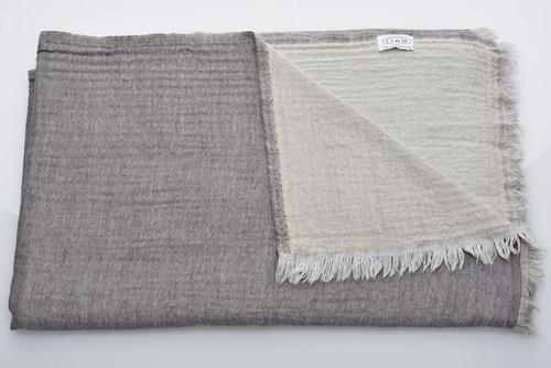 Soft Wool Blanket - Grey
