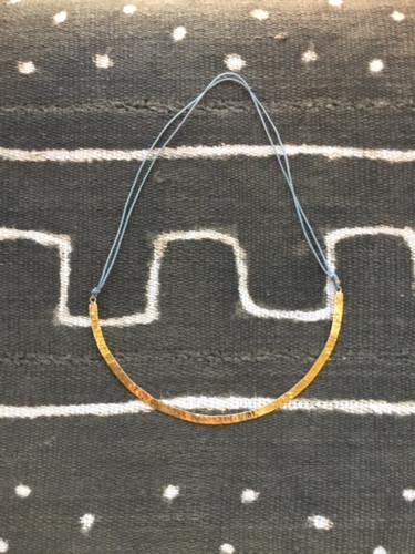 Necklace - Brass on Thread