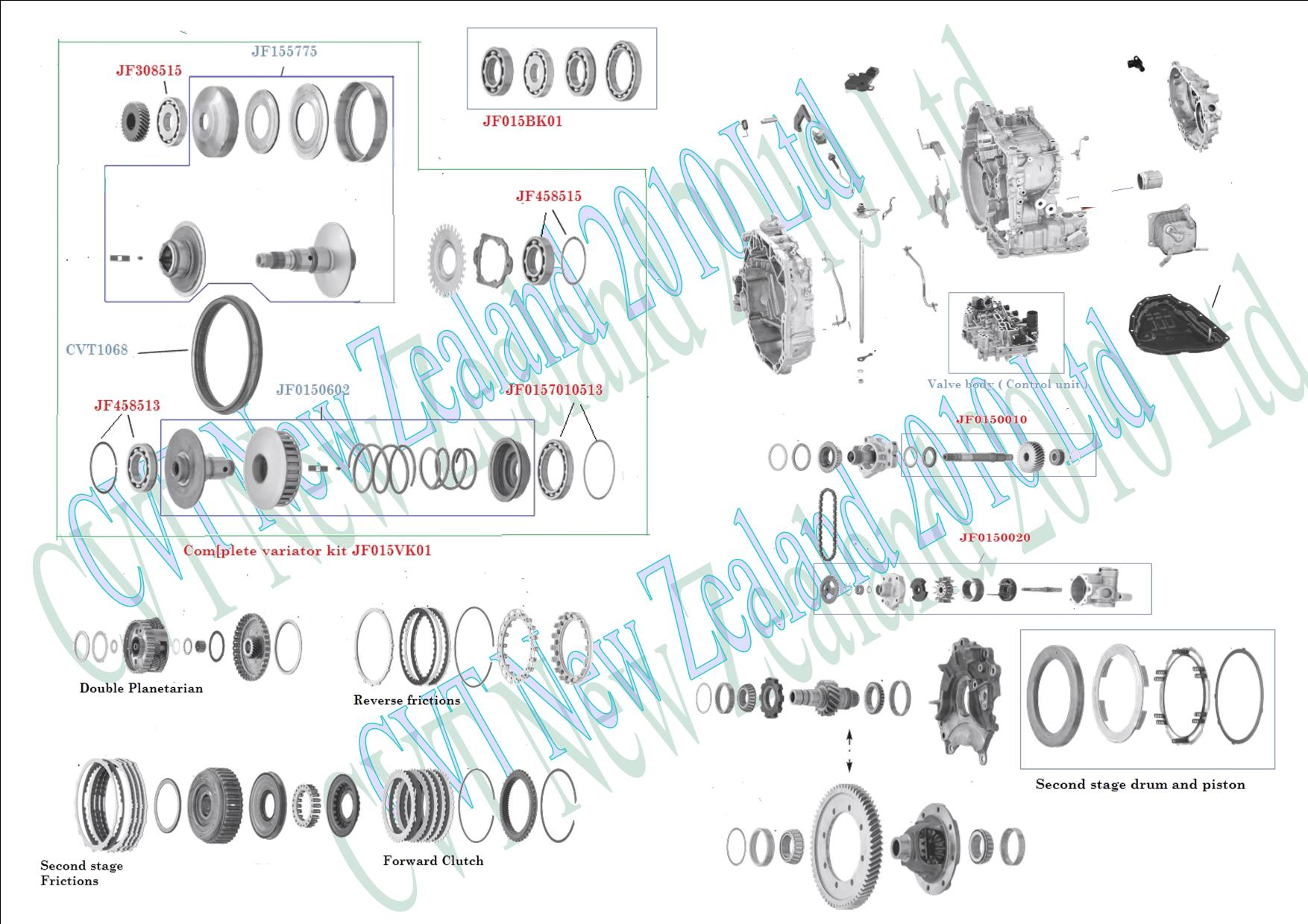Audi Cvt Transmission Diagram Wiring Nissan Reof 11 Jf015 Parts Limited Maxima