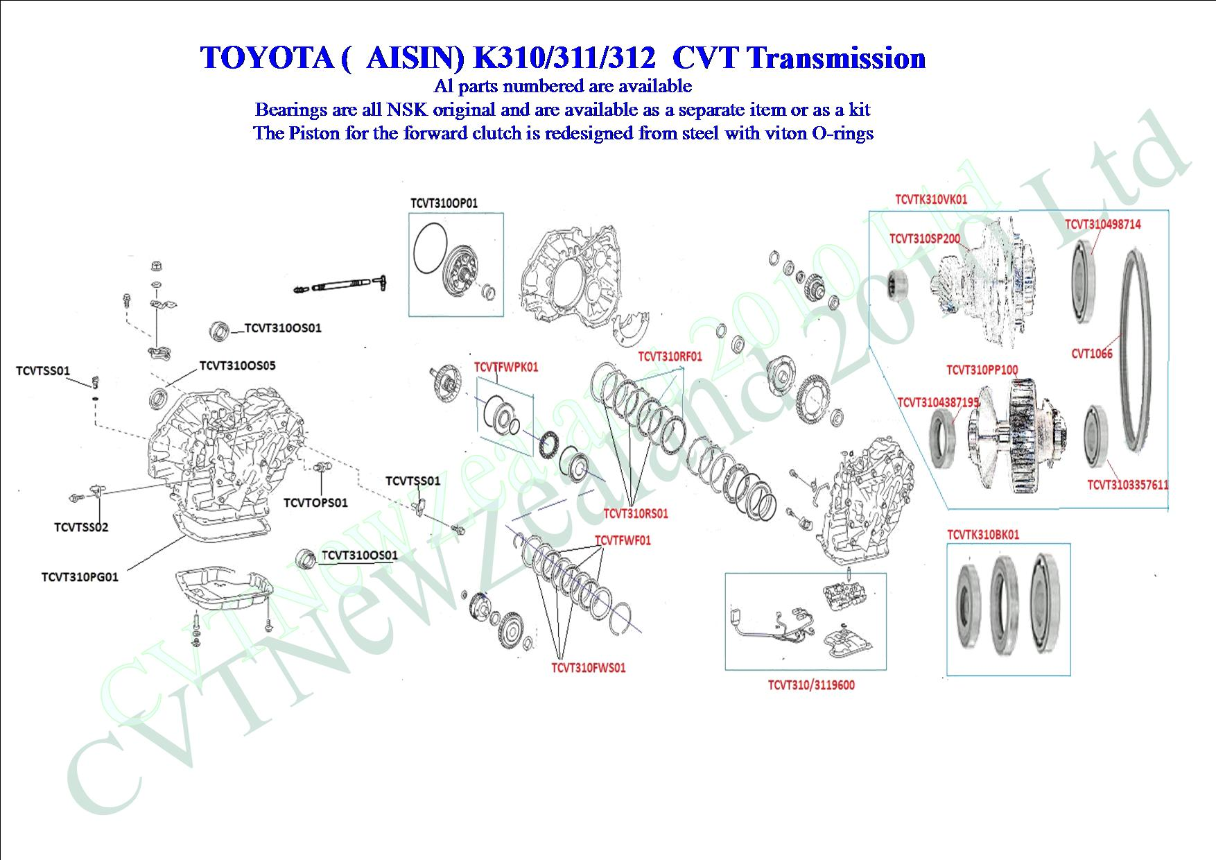 toyota cvt k310 cvt transmission cvt parts limited. Black Bedroom Furniture Sets. Home Design Ideas
