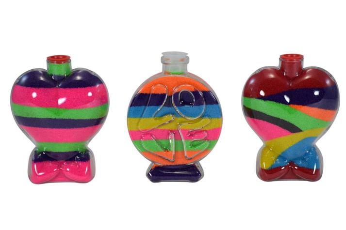 Sand Art Heart & Love Plastic Bottles
