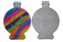 Sand Art Smile Plastic Bottle