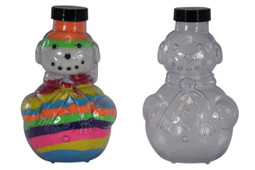 Sand Art Snowman Bottle