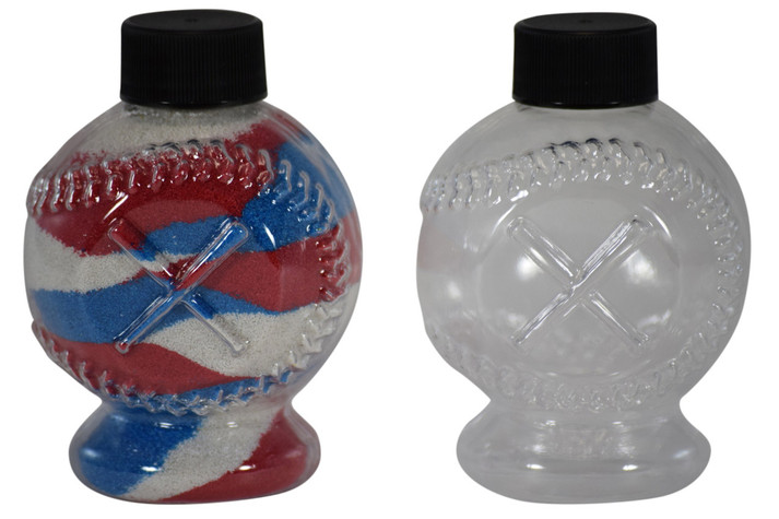 Sand Art Baseball Plastic Bottle