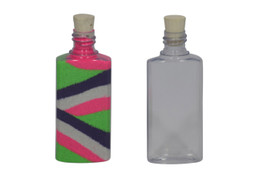 Plastic Square Sand Art Bottle