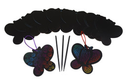 Scratch Art Butterfly Party Craft