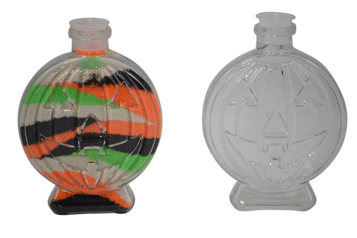 Pumpkin sand art bottle