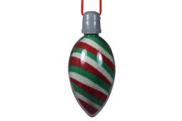 Sand Art Necklace Christmas Bulb