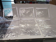 "LOT OF 3 Clear Vinyl Storage bags W/ WHITE ZIPPER & TRIM-16"" X 10"" X 10"""