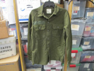 ONE USED-REAGAN ERA-SHIRT,FIELD, WOOL/NYLON-OLIVE GREEN SIZE SMALL [W1001]
