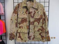 VINTAGE-US Military BDU Top-Coat 6 Color Chocolate Chip-Desert Camo-MED-XSHORT