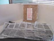"LOT OF 7-NEW Clear Vinyl Storage bags-w/ WHITE ZIPPER/TRIM 9.5"" x 11.5""X 5.5"""