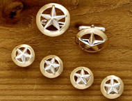 Domed Gold Rim Star Set