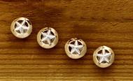 Domed Gold Rim Star Tuxedo Studs