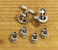 Anchor Cufflink & Tux Stud Set