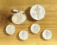 Medical Caduceus Cufflink & Tux Stud Set
