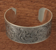 "Sterling engraved cuff 1 1/4"" wide"