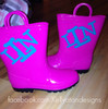 Gloss Vinyl on Rainboots