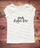 Plain White Short Sleeve Girls T Shirt Mock-Up