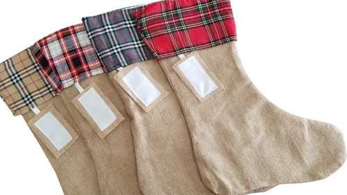 Plaid Cuff Christmas Stocking