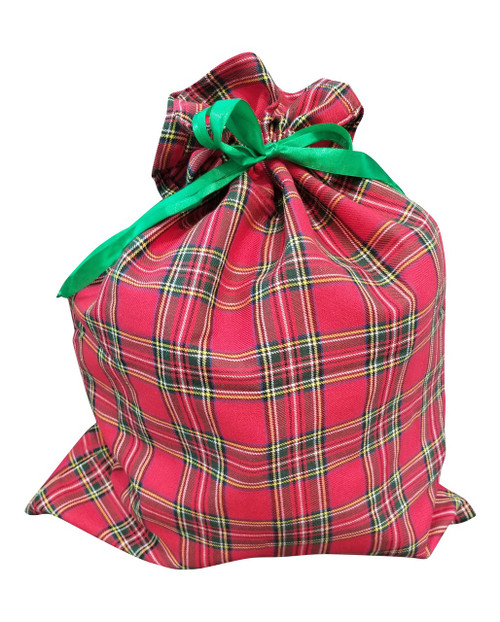 Red Plaid Christmas Sack