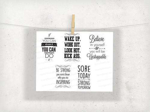 Motivational Water Bottle Digital File - All 5 Designs