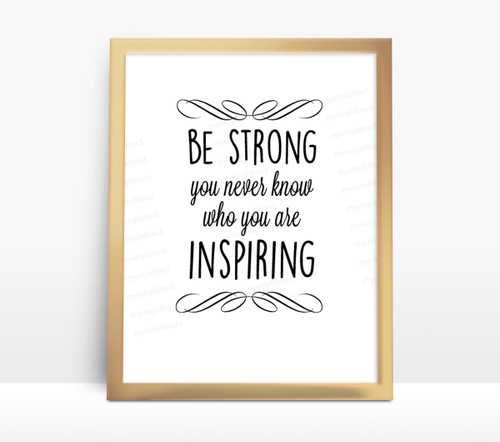 Motivational Water Bottle Digital File - Be Strong