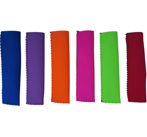 Colors Currently Available. Left to Right: Dark Blue, Purple, Orange, Hot Pink, Lime, Red