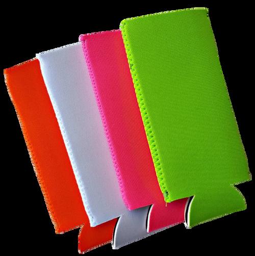Neoprene SLIM Can Cover: Orange, White, Hot Pink, Lime
