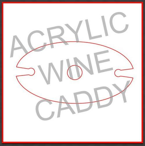 Acrylic Wine Caddy