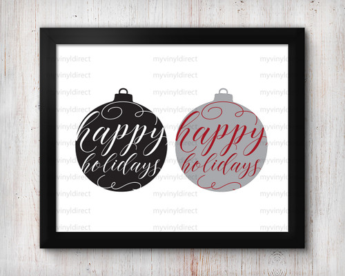 Happy Holidays Ornament Digital File