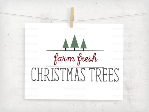 Farm Fresh Christmas Trees Digital File