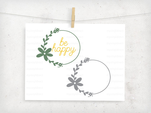 Floral Wreath Digital File
