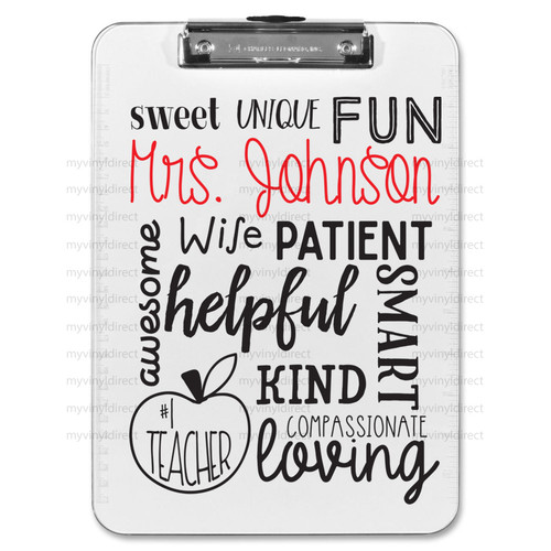 Teacher Clipboard Art Digital Cutting File