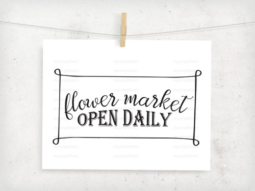 Flower Market Digital Cutting File