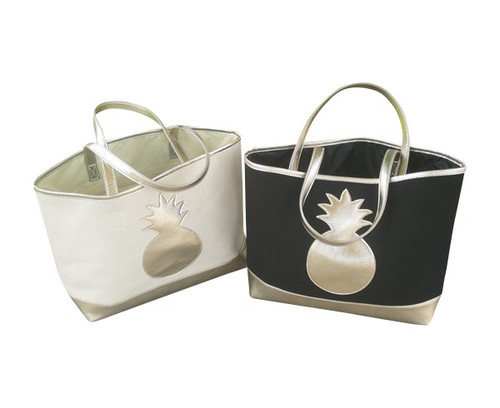 Metallic Pineapple Tote