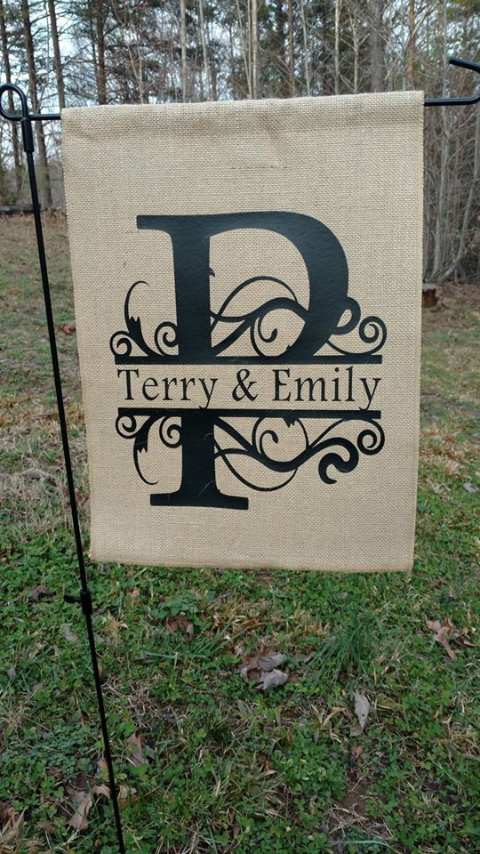 Burlap Garden Flag Z2 My Vinyl Direct