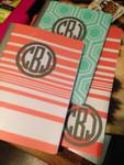 Matte Vinyl monograms on notebooks