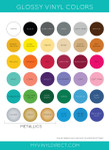 Gloss Vinyl Color Chart