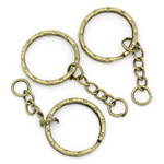 Antique Bronze Key Chain Rings