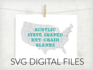 Acrylic State Key Chain Digital Files