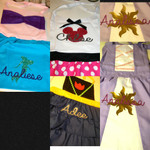Princess Aprons personalized with our heat transfer vinyls