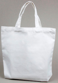 White Book Bag Tote