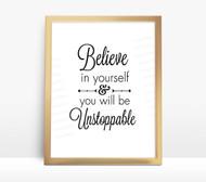 Motivational Water Bottle Digital File - Believe